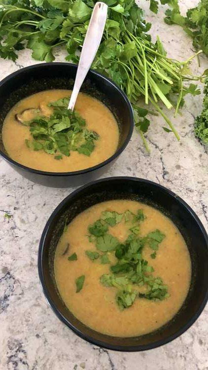 Lemongrass Carrot Soup