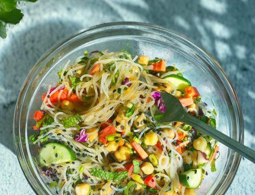 Chickpea & Veggie Noodle Bowl