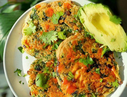 Cheesy-Herb Oat Pancakes